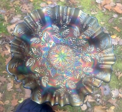 Carnival Superior Blue 3 In 1 Edge Holly Bowl With Exquisite Iridescence
