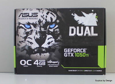 *NEW OPEN BOX* ASUS GeForce GTX1050Ti 4GB Dual-Fan Edition Graphics Card (DUAL-G