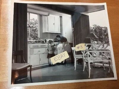 Vtg B&W 50's Photograph Westinghouse Appliance Corp. Mother Child Soda 8 X 10 #3