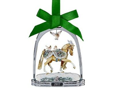 Breyer Holiday 2017 Winter  Wonderland Horse Stirrup Ornament 700318 Christmas