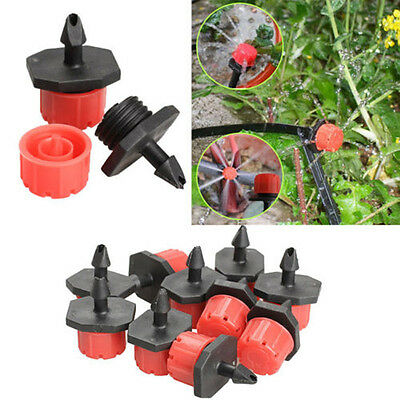 100pcs Adjustable Micro Drip Irrigation Watering Anti-clogging Emitter Drippers