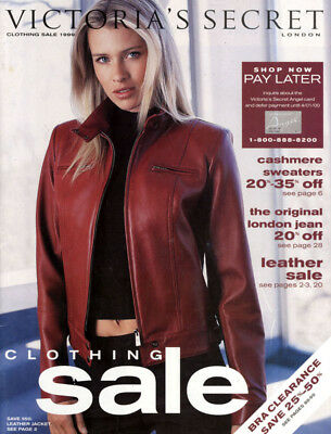 1999 Victoria's Secret Clothing Sale Catalog Daniela Pestova cover