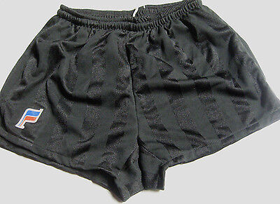 Vintage 80's NEW old Stock black FAMAX Running soccer Shorts without Liner Small