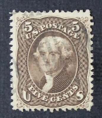 CKStamps: US Stamps Collection Scott#95 5c Jefferson Used CV$900