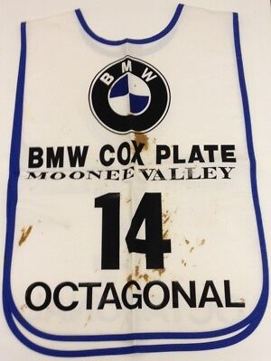 Rare champion Octagonal's 1995 Cox Plate strappers vest + Signed 1 of 100 photo!