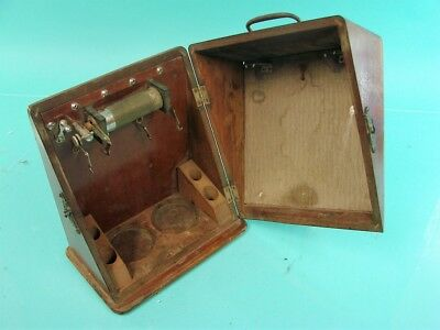 Early Antique Unique Quack Medical Device Instrument Carrying Box Diagonal Open