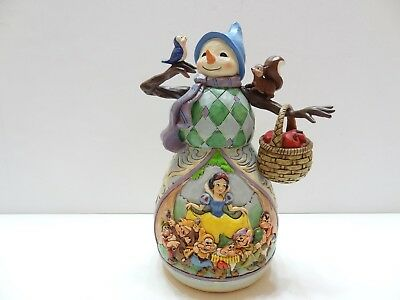 Disney Jim Shore HI HO HOLIDAYS Snow White & Seven Dwarfs Snowman 4046020 NIB