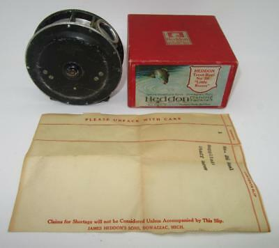 A6) Vintage Heddon No.26 Little Rivers Trout Fly Fishing Reel With Down Leap Box
