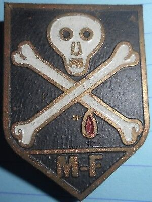 RARE BADGE - MF - US Mike Force - Blackjack 21 - Jolly Roger, Vietnam War - 244