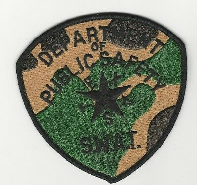 Texas DPS State Police Camo SWAT SRT subdued patch