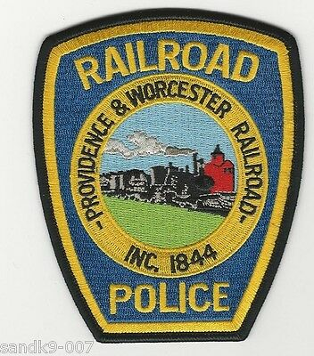 Providence Worcester Railroad Railway Police Shoulder patch State RI MA