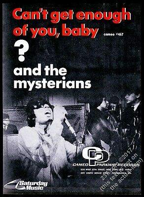 1967 Question Mark ? and the Mysterians photo Can't Get Enough Of You Baby ad