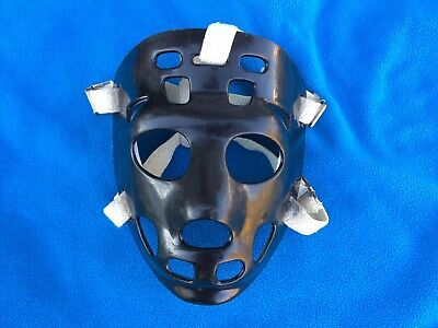 Vintage Hockey Mask Black Jason Mask Ice Roller Great For A Halloween Costume
