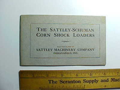 1890s SATTLEY FARM MACHINE CORN LOADERS BROCHURE w/ PICTURES Indianapolis 24 pp