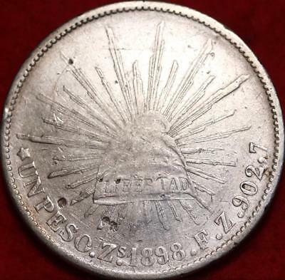 1898 Mexico 8 Reales Silver Foregin Coin Free S/H
