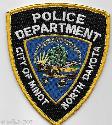 Minot Police State North Dakota ND Colorful Shoulder Patch