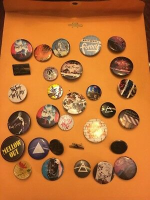 Pink Floyd Dark Side Of The Moon Album And Other Art Button Pin Lot