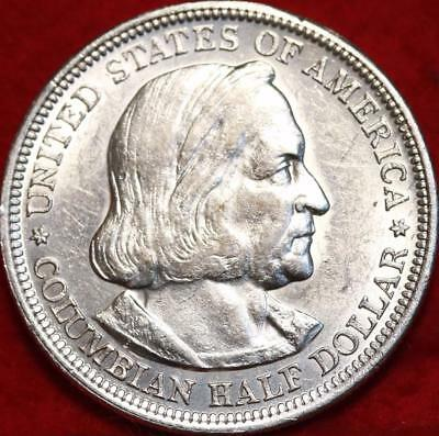 Uncirculated 1893 Philadelphia Mint Columbian Expo Silver Comm Half Free S/H