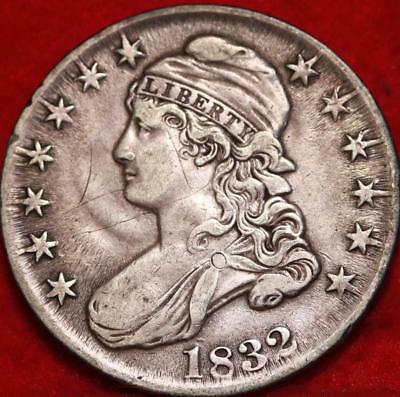 1832 Philadelphia Mint Silver Capped Bust Half Dollar Free S/H