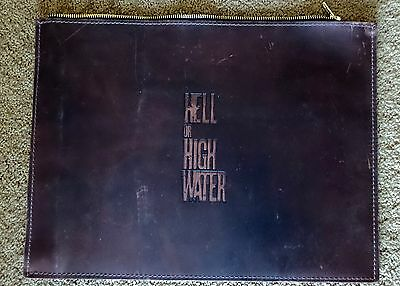 Hell Or High Water Leather Portfolio Pouch Promo  Fyc For Your Consideration
