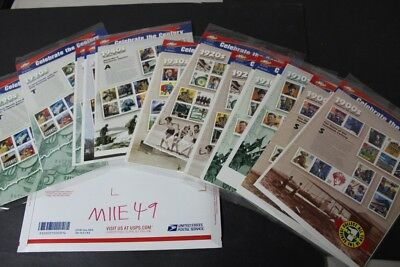 CKStamps: Terrific Mint US Celebrate the Century Sheets Stamps Collection( FV$58