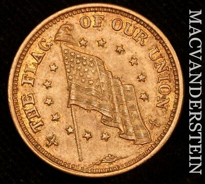 """Civil War Token: """"the Flag Of Our Nation""""/""""shoot Him On The Spot""""!!  #w14"""