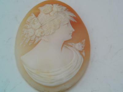 Antique Victorian Carved Female Girl Shell Cameo $9.99