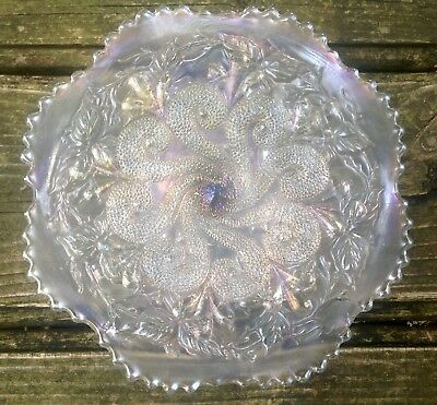 Carnival Scarce White Question Marks Cake Plate By Dugan