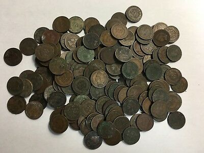 172 Mixed Date Indian Head Cents Starts At .99c