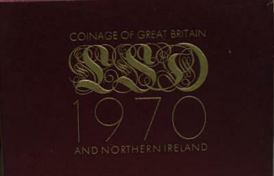 Uncirculated 1970 Coinage Of Great Britain & Northern Ireland Proof Set Free S/H