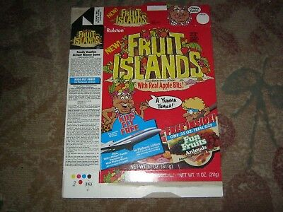 Fruit Island NEW! Cereal Box 1987