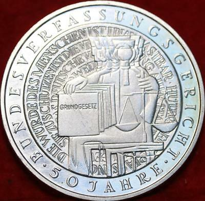 Uncirculated 2001-G Germany 10 Mark Foreign Silver Coin Free S/H