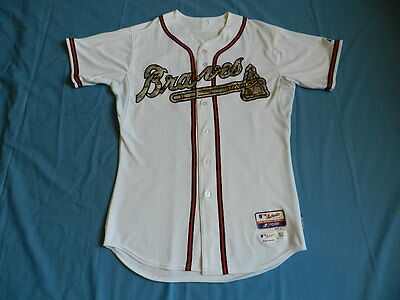 Freddie Freeman 2015 Atlanta Braves game used jersey Memorial Day style Camo