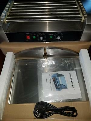 7 Roller Commercial Hot Dog Machine Makes 18 With Glass Shield And Boxes All New