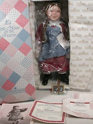 "Little House on the Praire ""Laura"" Ingalls 16"" Porcelain Doll All Certs MIB"