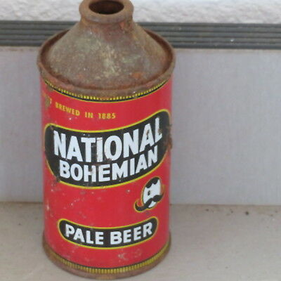National  Bohemian   Beer  Colorful Solid     Cone Top