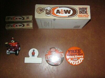 A & W Pinbacks , Gum,  Car   7 Items