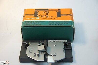 Super 8 Adhesive Press Bauer Splicer S8 Press with instructions boxed
