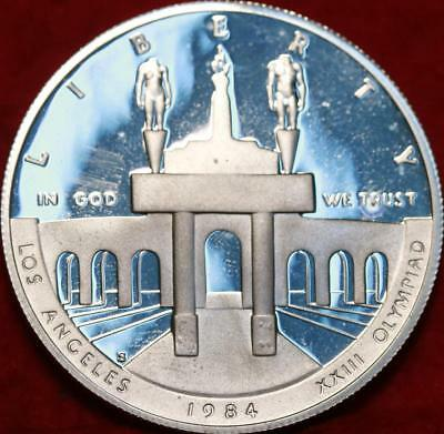 Uncirculated 1984-S San Francisco Mint Olympic Silver Dollar Free S/H!