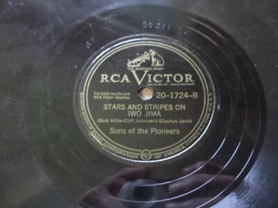 """RCA 78/Sons of the Pioneers-""""Stars&Stripes On Iwo Jima""""/""""Cool Water""""/E"""