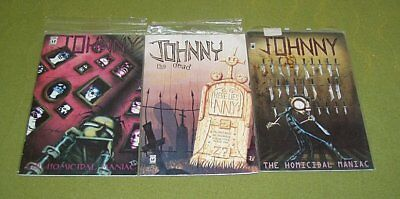 Lot 3 Johnny The Homicidal Maniac Comics #1 #2 #6