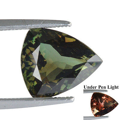 4.176Cts Natural Tanzania Alexandrite Color Change Trillion Rare Gemstone