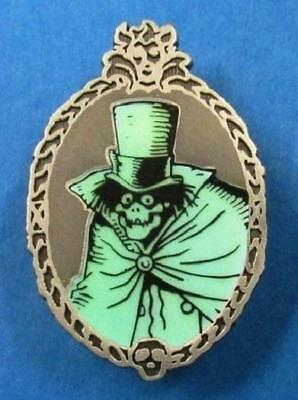 Disney Pin Haunted Mansion Glow In The Dark Mystery Set - Hatbox Ghost