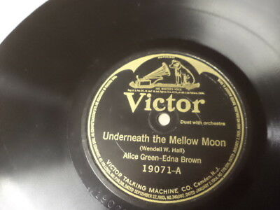 Early 20s VICTOR 78/Alice Green&Edna Brown/Charles Hart&Lewis James/E!