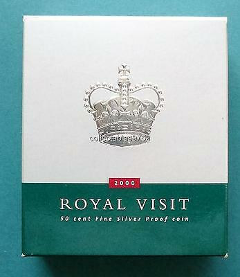 2000 Elizabeth II Royal Visit Pure Silver Fifty Cent Proof Coin