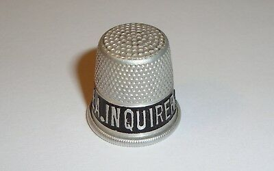 Vintage Aluminum Advertising Thimble * Read the Phila. Inquirer Philadelphia