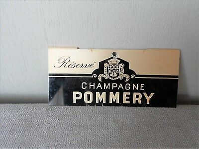 Vintage french metal alu advert PLAQUE sign  Champagne POMMERY