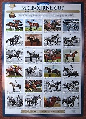 2010  Herald Sun 150th MELBOURNE CUP:  COLOUR  COMMEMORATIVE  POSTER