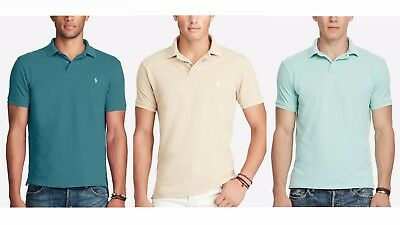 Ralph Lauren Polo Classic Fit Mesh Polo Shirt Teal-Beige-Blue Lot of 3 Sz XXL