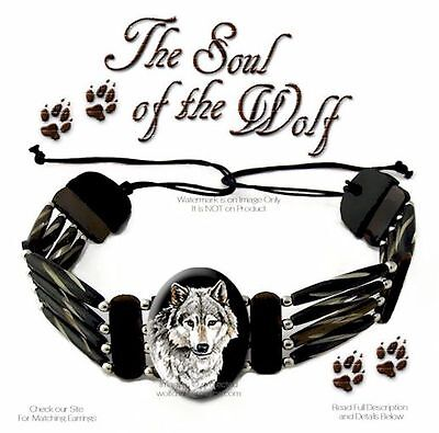 Soul Of The Wolf - Carved Bone Choker Bead Leather Necklace Wolves Art Gift Sale